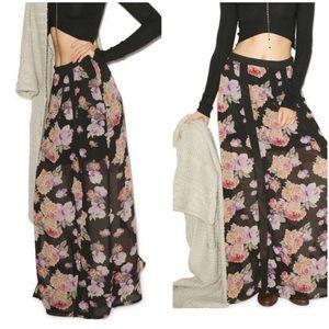 MINKPINK floral maxi skirt